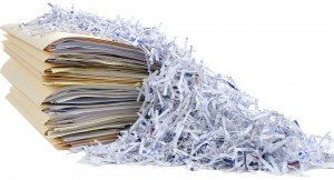 Financial Institutions, shredding